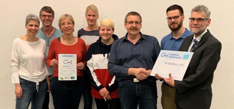 "Zertifizierung ""SchwimmGut-zertifizierte Schwimmschule"""